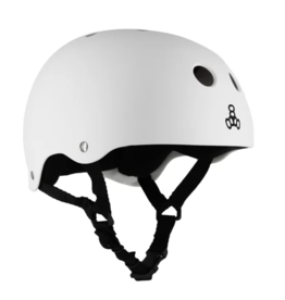 TRIPLE 8 T8 HELMET WHITE RUBBER XXL