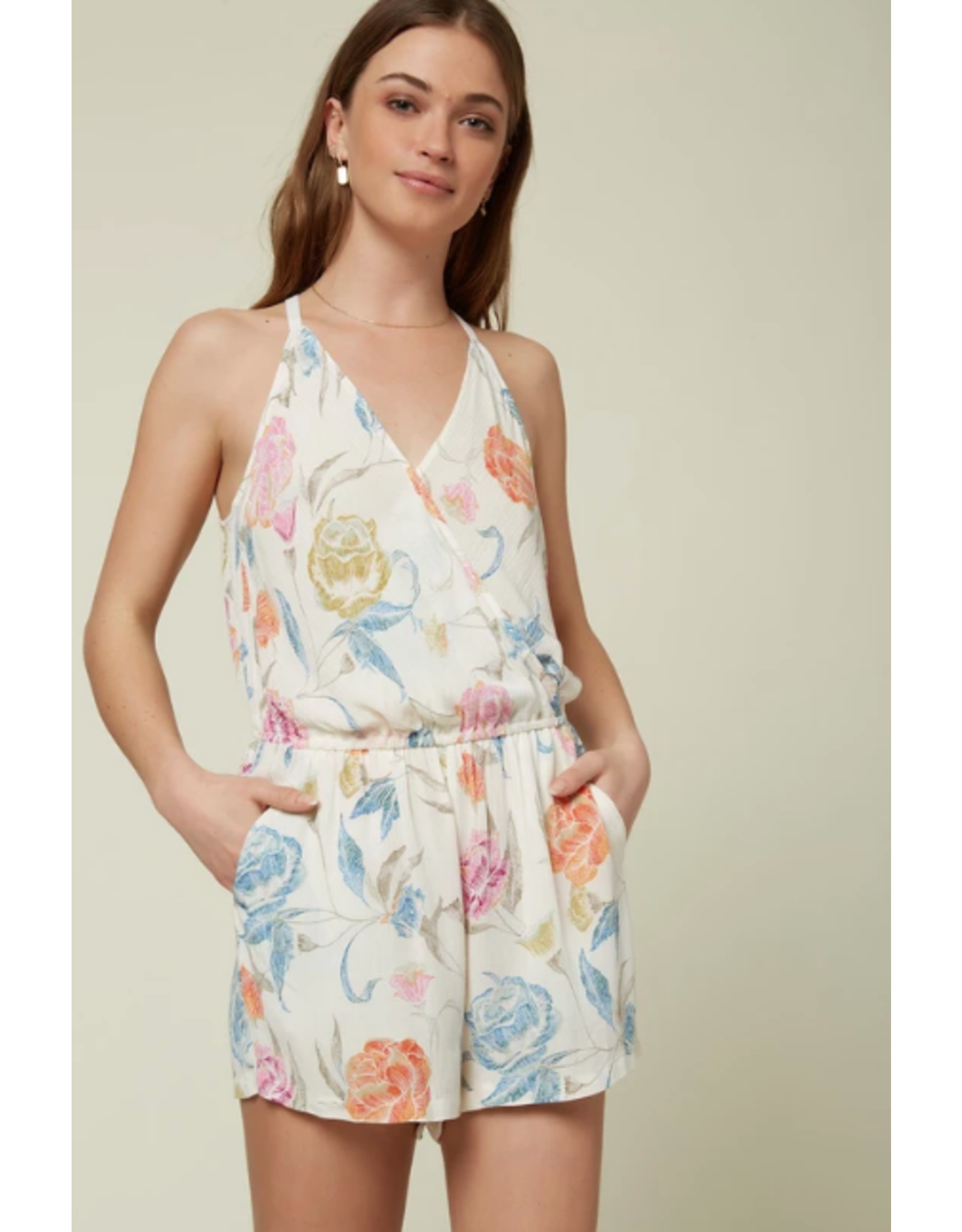ONEILL ALEX FLORAL ROMPER - WINTER WHITE