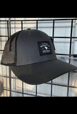 115 SPLIT CHARCOAL BLACK SALTY'S TRUCKER HAT