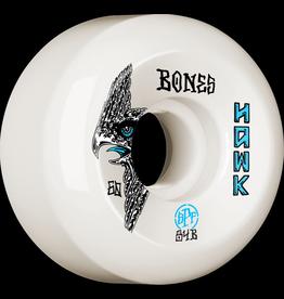 BONES BONES WHEELS SPF PRO HAWK BIRD'S EYE SKATEBOARD WHEELS P5 SIDECUT 60MM 84B 4PK WHITE