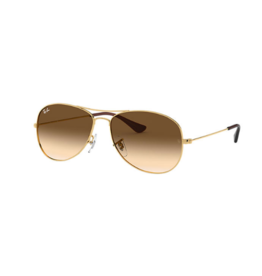 RAYBAN RAY BANS COCKPIT GOLD WITH LIGHT BROWN GRADIENT LENS