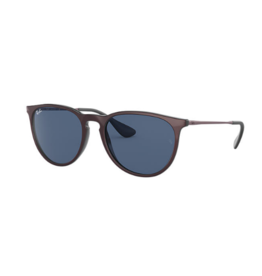 RAYBAN RAY BAN ERIKA METALLIC CIPRIA ON BLACK WITH DARK BLUE LENS
