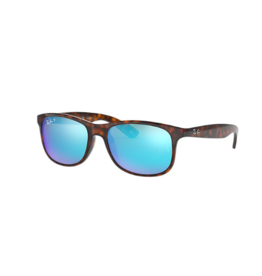 RAYBAN RAY BAN ANDY LIGHT HAVANA WITH BLUE FLASH LENS