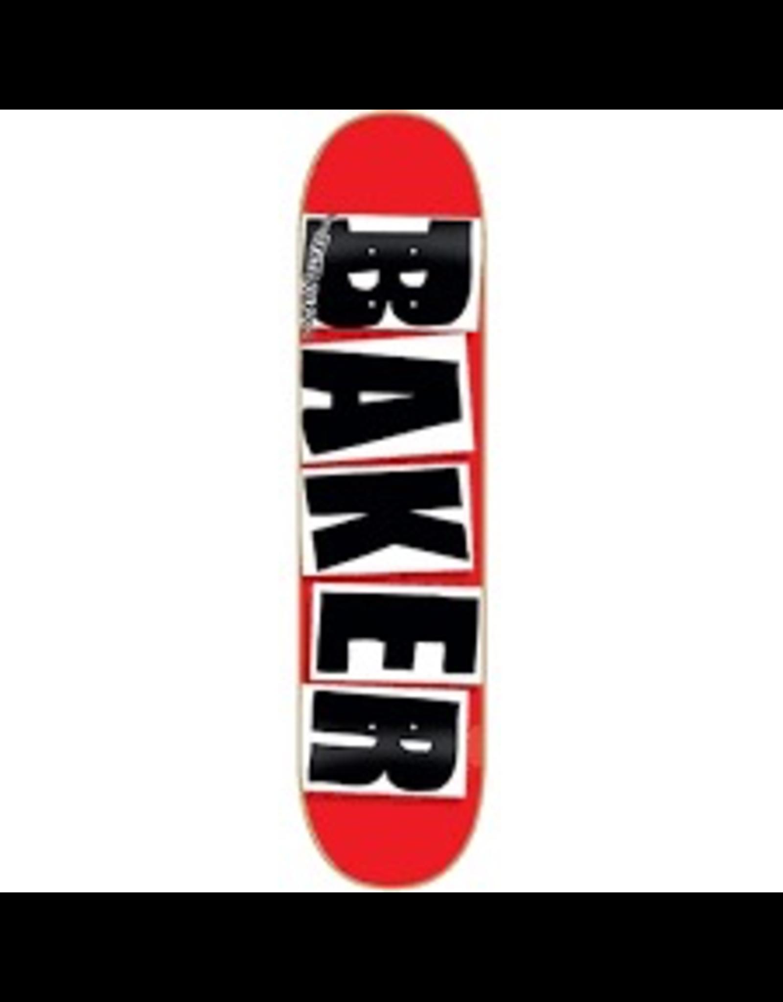 BAKER BAKER BRAND LOGO DECK - 8.38 RED/BLACK