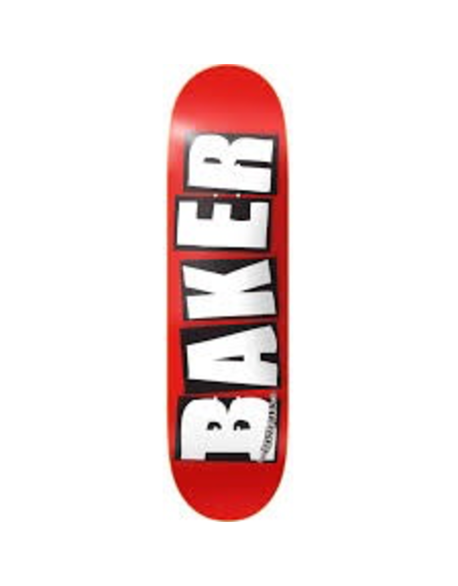 BAKER BAKER BRAND LOGO DECK - 8.5 RED/WHITE