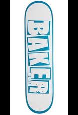 BAKER BAKER HERMAN BRAND NAME DECK - 8.0 WHITE/BLUE