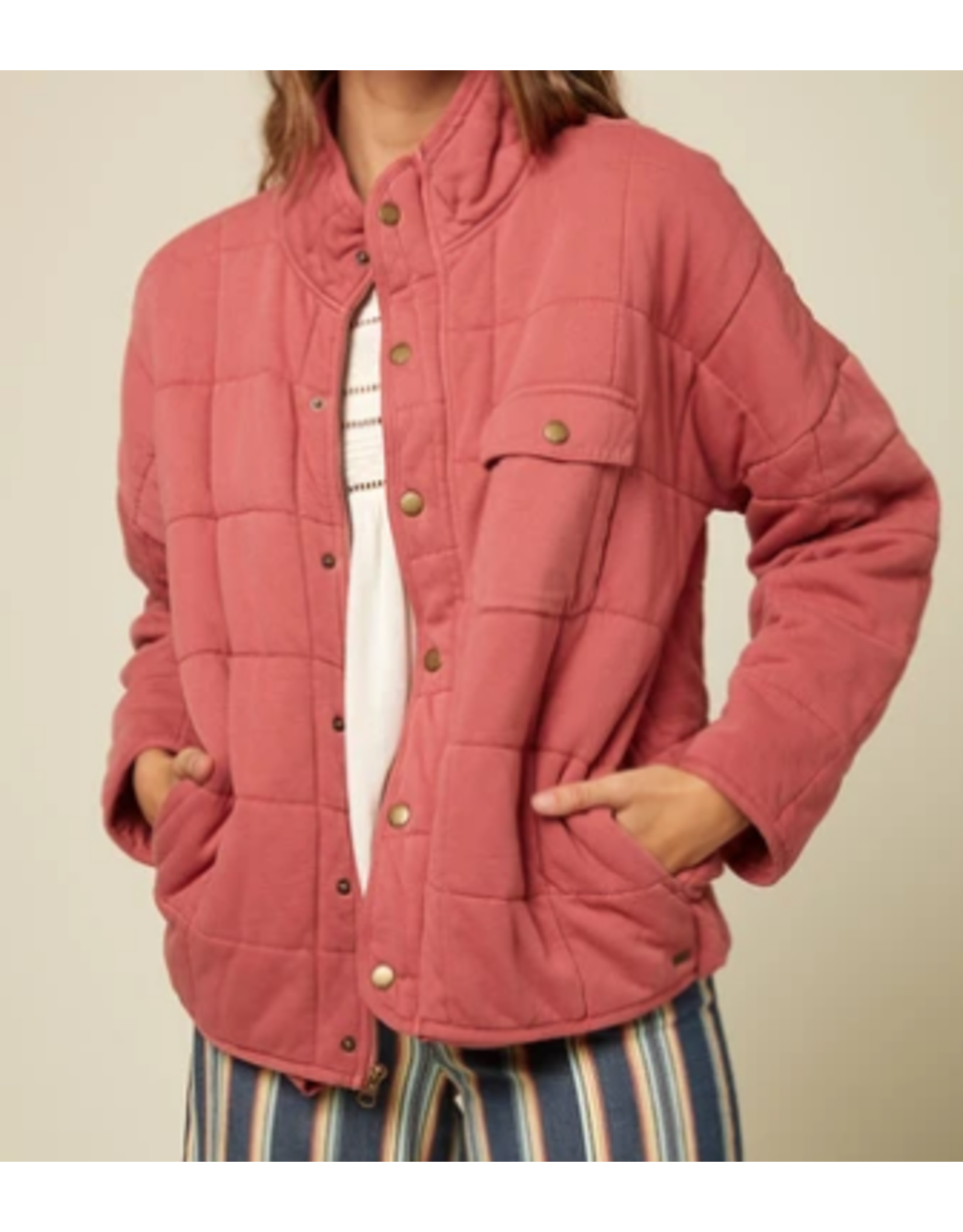 MABLE KNIT-FADED ROSE, M