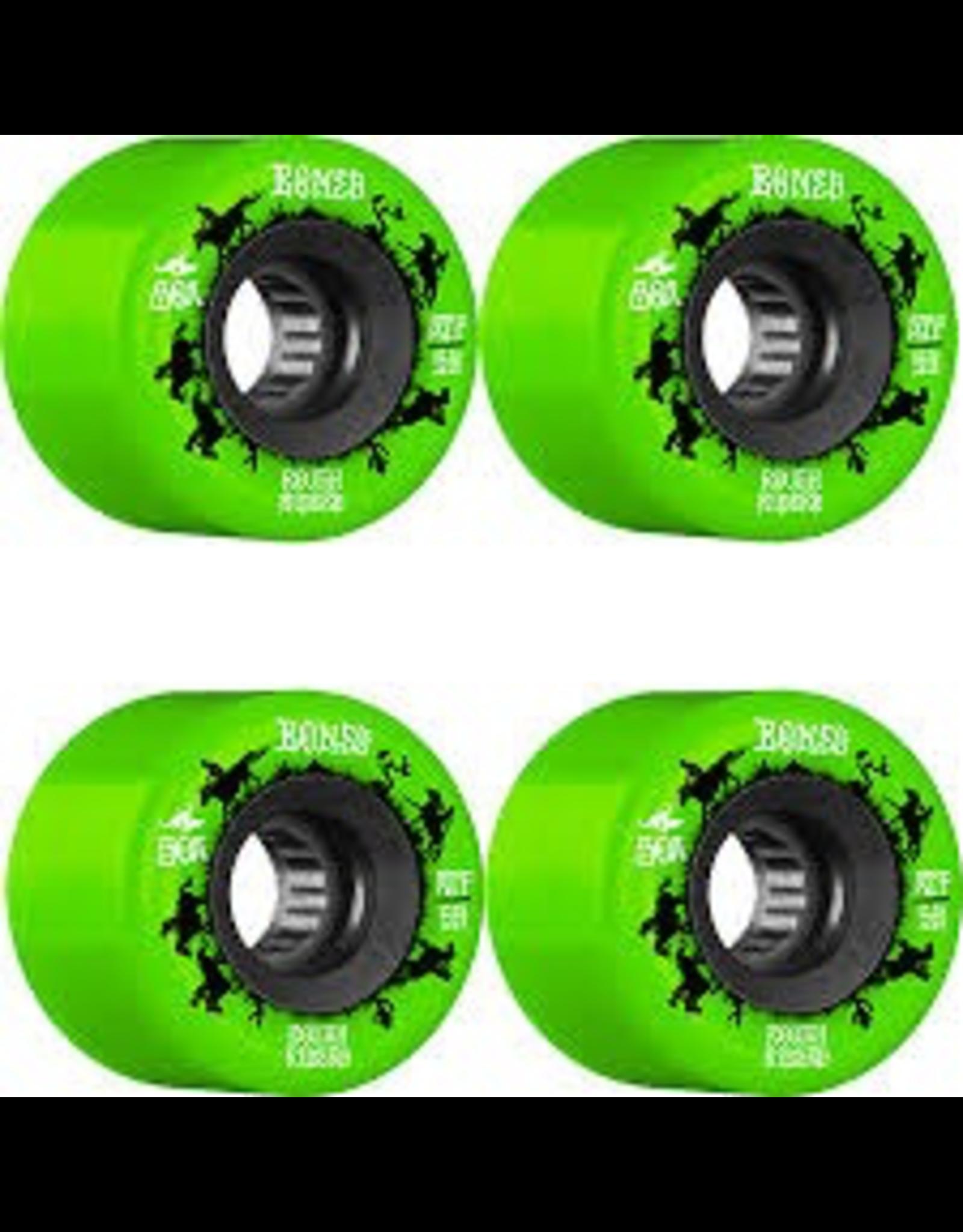 BONES BONES BONES WHEELS ROUGH RIDERS WRANGLERS WHEELS (GREEN) 59MM