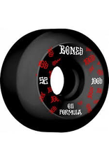 BONES BONES WHEELS OG Formula Skateboard Wheels 100 #3 52mm V5 Sidecut 4pk Black