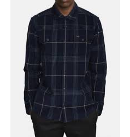 RVCA BLUES WALK CORD LONG SLEEVE SHIRT
