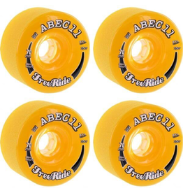 ABEC11 ABEC11 FREERIDE STONE GROUND WHEELS - 70AA 81A, AMBER