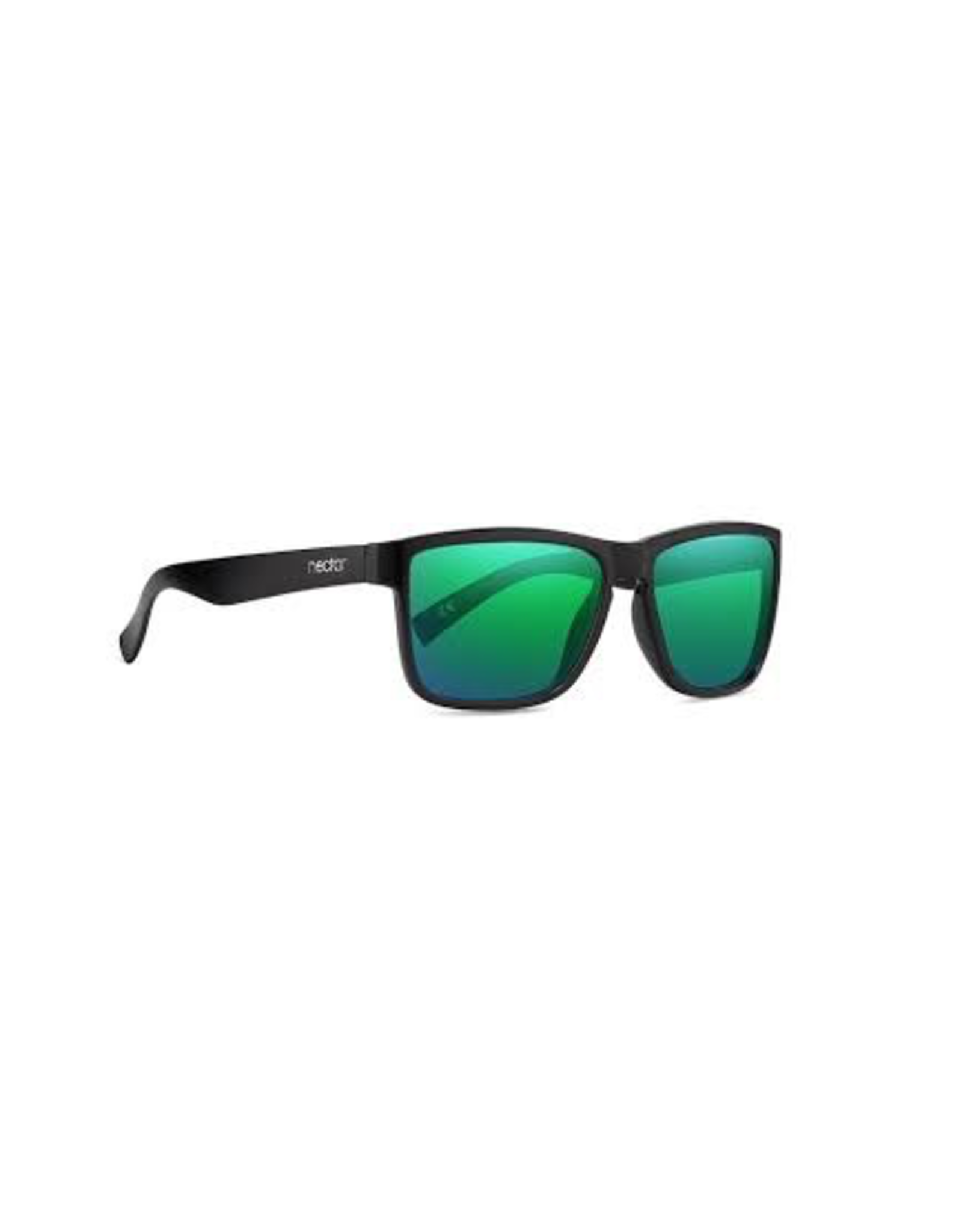 NECTAR NECTAR SUNGLASSES POLARIZED PALMS GLOSSY BLACK FRAME - GREEN LENS