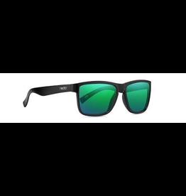 NECTAR NECTAR SUNGLASSES POLARIZED PALMS GLOSSY BLACK FRAME - GREEN LENS