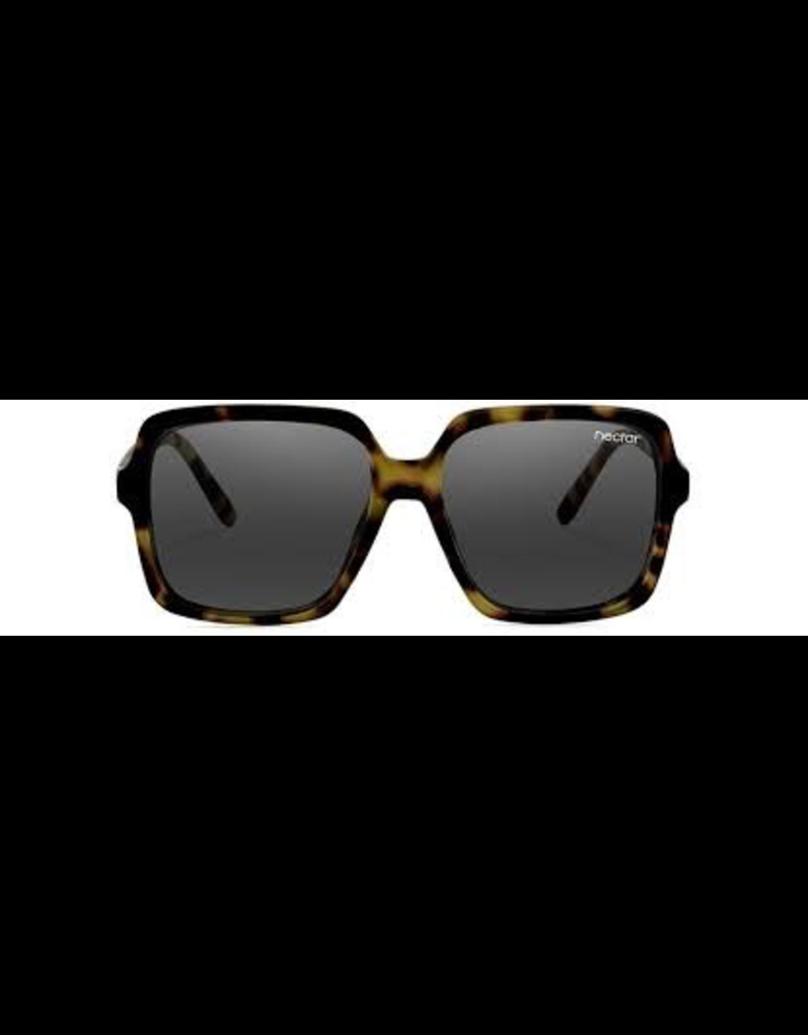 NECTAR NECTAR SUNGLASSES S.N.O.B TORTOISE FRAME - BLACK LENS