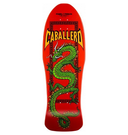 POWELL Powell Peralta Steve Caballero Chinese Dragon Red Skateboard Deck - 10 x 30