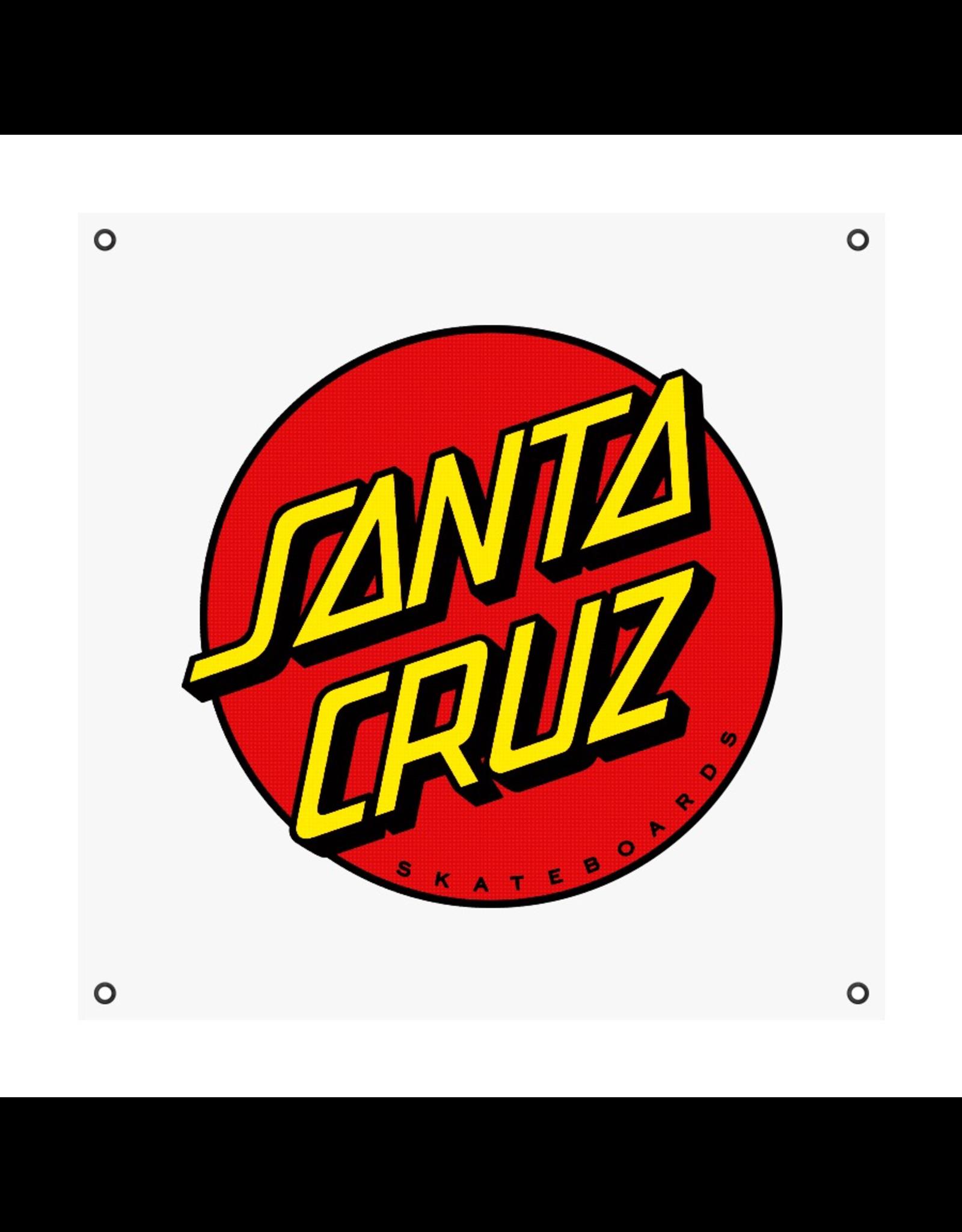 SANTA CRUZ SANTA CRUZ CALASSIC DOT BANNER IN WHITE 36 in X 36 in IN EACH UNISEX SANTA CRUZ