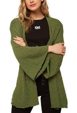 """A sweater weather favorite. This is an oversized cardigan sweater that has an open front design and soft, cotton slub feel.<br /> <br /> O'Neill Women's cardigan sweater<br /> 25"""" In Length<br /> Soft cotton slub feel<br /> Open front design<br /> Bracelet length sleeves<br /> Metal logo badge<br /> 10"""