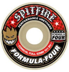 SPITFIRE SPITFIRE FORMULA 4 CONICAL FULL, 54MM 101A, WHITE/RED