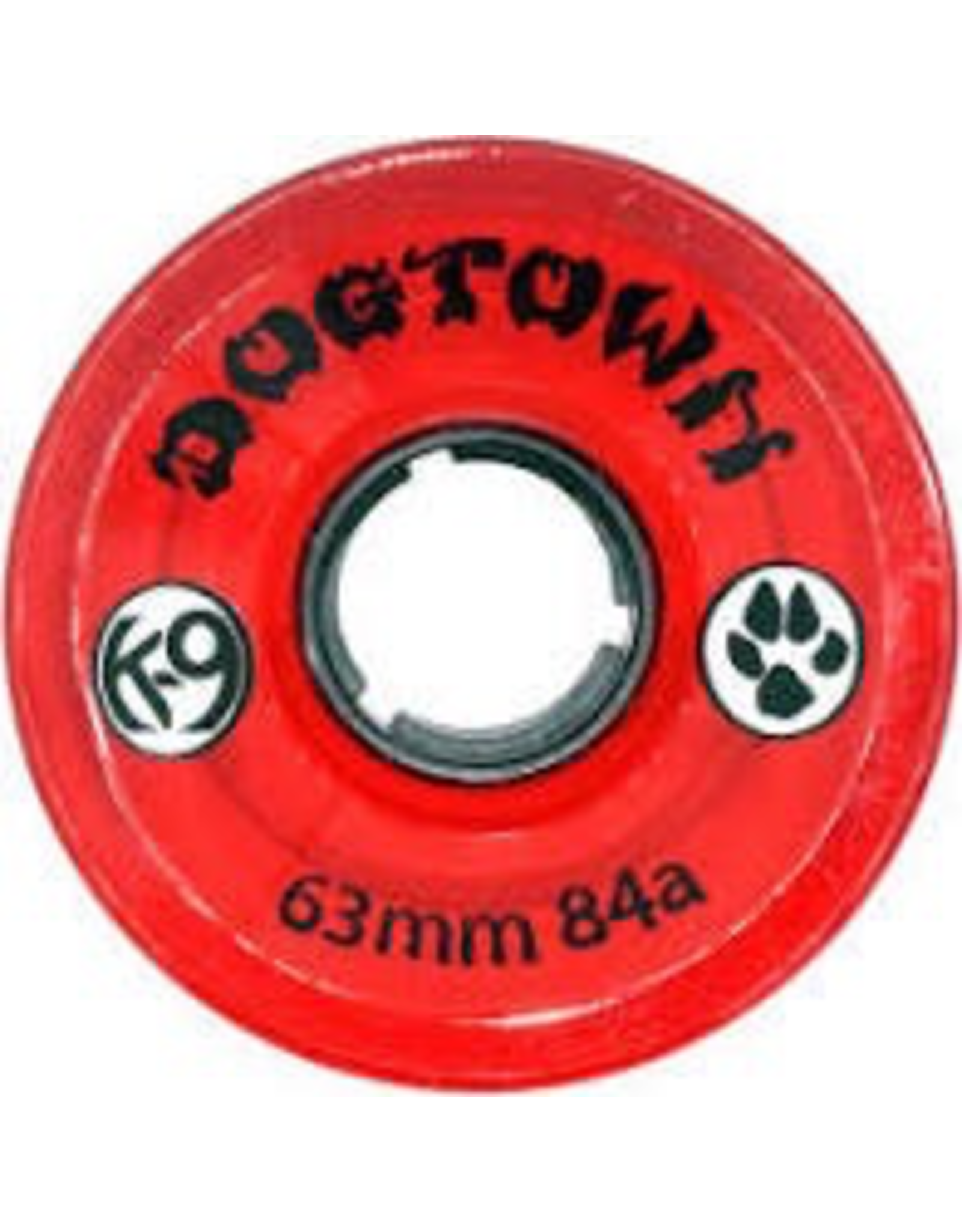 DOGTOWN DOGTOWN K-9 WHEELS 63MM x 84A, CLEAR RED