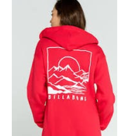 BILLABONG From sea to summit, the Mountain Mama has you covered in a custom design. Made from soft fleece, the womens hooded sweatshirt adds mountain and seascape artwork prints at the chest and back and a pouch pocket at the lower front.