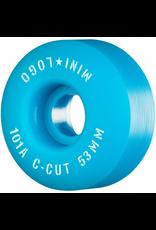 "MINI LOGO Mini Logo Skateboard Wheels C-cut ""2"" 53mm 101A Blue 4pk"