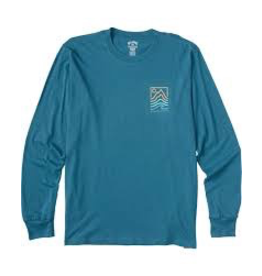 BILLABONG Mens' long sleeve t-shirt.<br /> <br /> Billabong Adventure Division.<br /> Crew neck.<br /> Logo artwork screen printed at chest and back.<br /> Heat seal neck label.<br /> Left side seam flag label.<br /> Premium combed ringspun jersey.