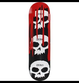 ZERO ZERO 3 SKULL WITH BLOOD DECK, 8.0