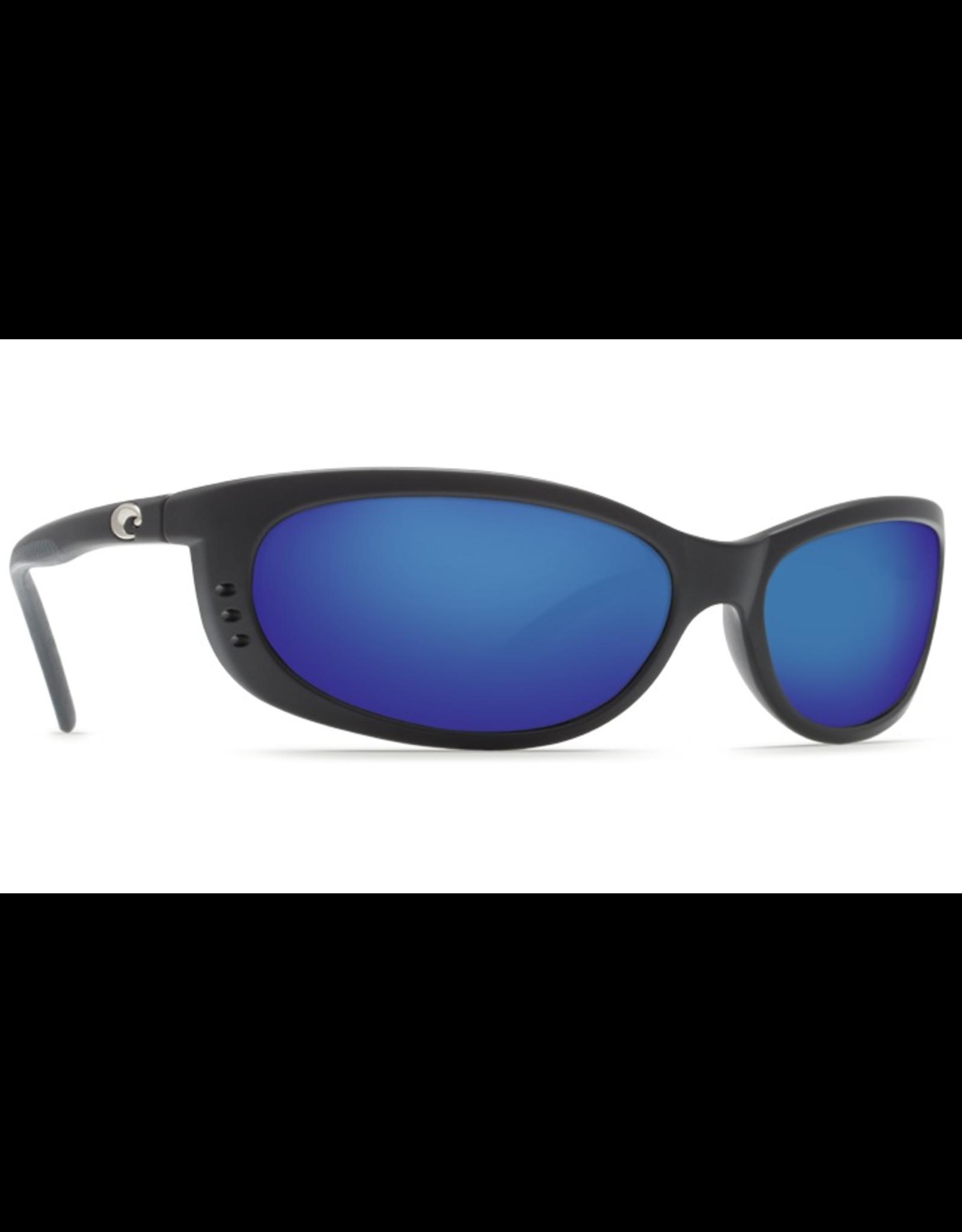 COSTA FATHOM MATTE BLACK BLUE MIRROR LENS 580G