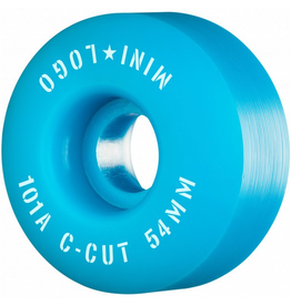 "MINI LOGO Mini Logo Skateboard Wheels C-cut ""2"" 54mm 101A Blue 4pk"