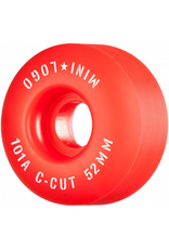 "MINI LOGO Mini Logo Skateboard Wheels C-cut ""2"" 52mm 101A Red 4pk"