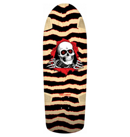 POWELL Powell-Peralta re-issue decks are close reproductions of their 1980's counterparts, featuring the original Pro graphics and shape, top graphic logo and concave. They are manufactured in our Santa Barbara skateboard factory, which is still directed by a fe