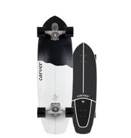 "CARVER SKATEBOARDS Length: 32 1/2""<br /> Width: 9 7/8""<br /> Wheelbase: 17 1/2""<br /> Nose: 4 1/2""<br /> Tail: 6 1/4""<br /> <br /> Truck Option: C7 or CX<br /> Truck Color Option: Raw<br /> Wheels: 69MM Concave Smoke 78A<br /> Bearings: Built-In<br /> Grip Tape: Deck Pad Grip<br /> Hardware: Stainless Steel"