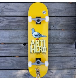 "ANTI HERO Features: <br /> <br /> One (1) Anti Hero Skateboards Pigeon Hero 2020 Complete Skateboard from Anti Hero<br /> Deck Size: 8.25"" x 32""<br /> Factory assembled by Anti Hero and ready to skate<br /> Includes trucks, wheels, bearings, hardware, and grip tape<br /> 100% guaranteed authentic"