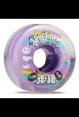 SATORI One (1) set of 54mm Satori Movement Space Gem Clear Skateboard Wheels - 78a; includes four (4) wheels<br /> Diameter: 54mm<br /> Durometer: 78a<br /> Color: Clear