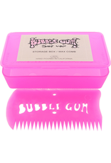 BUBBLE GUM WAX COMB W/BOX BLUE