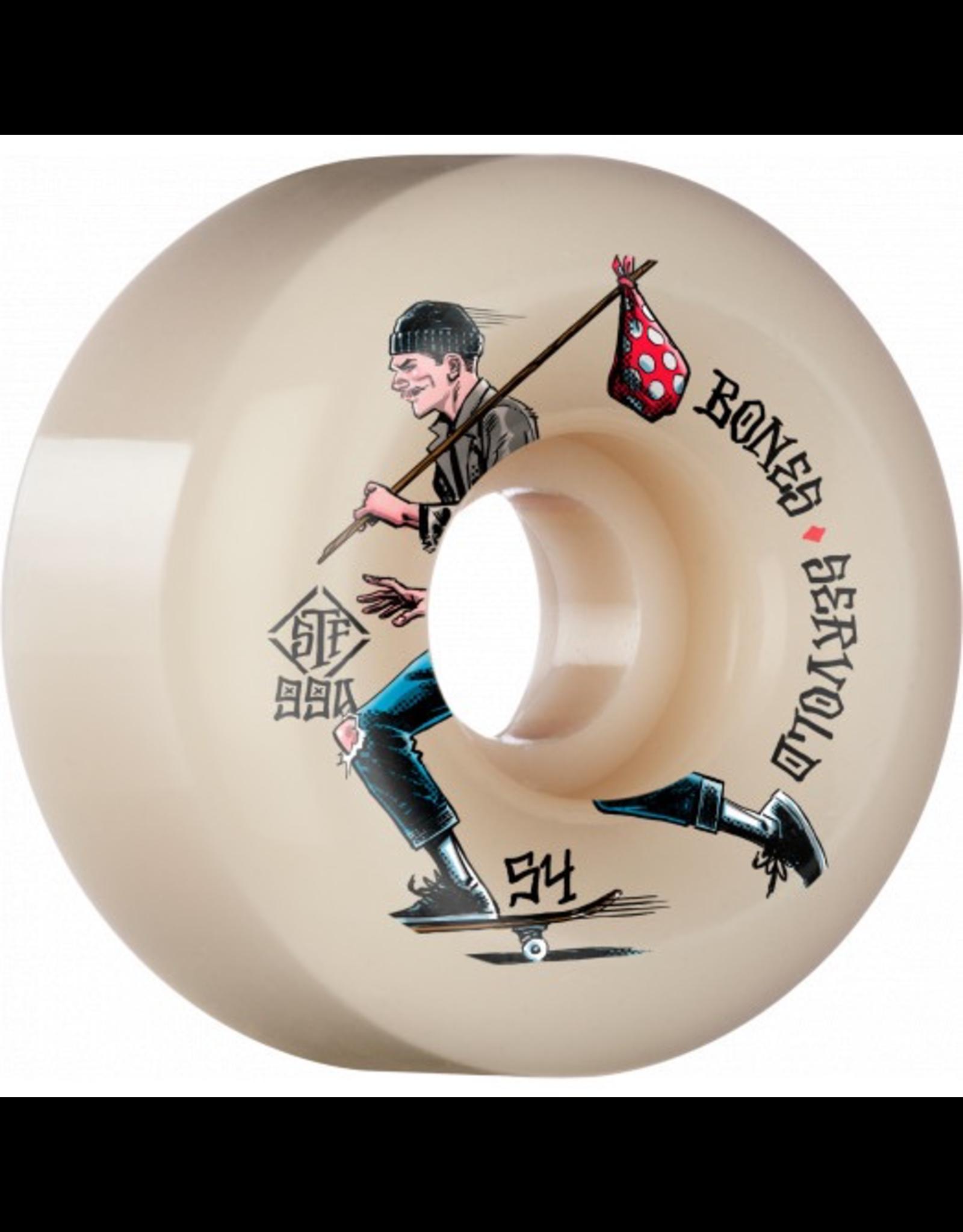 BONES BONES WHEELS PRO STF Skateboard Wheels Servold Gone Skating 54mm V6 Wide-Cut 99a 4pk