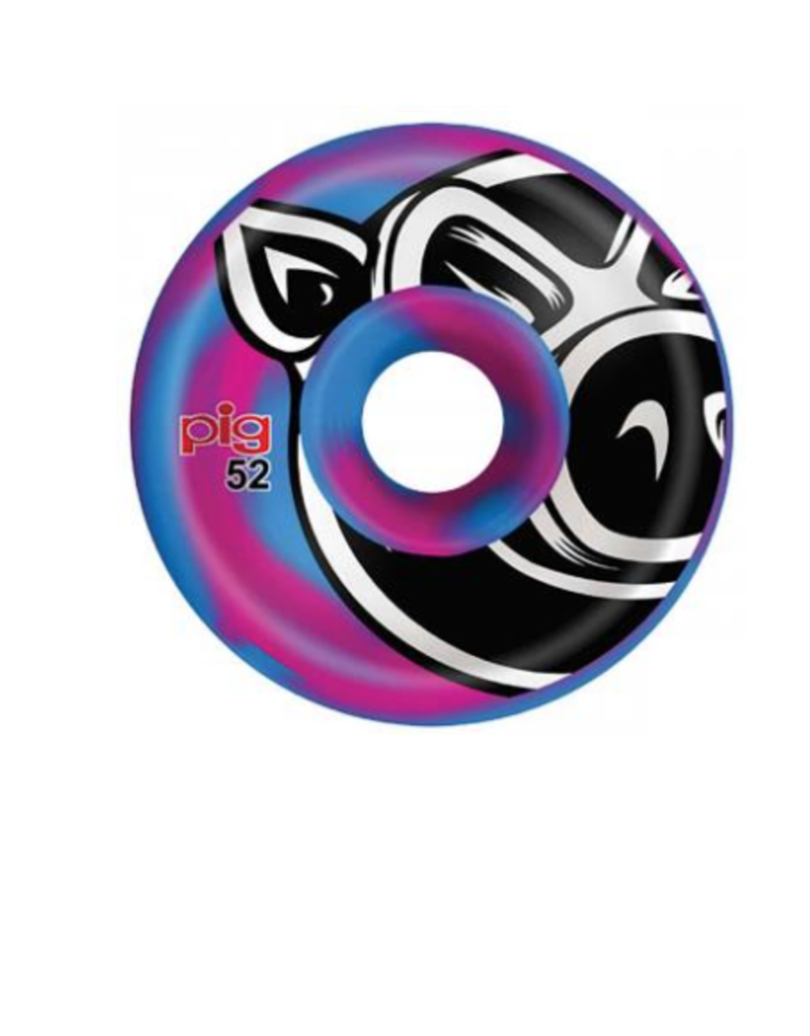 PIG Pig Wheels 52mm Pig Head Blue/Pink Swirl C-Line Skateboard Wheels<br /> Regular price<br /> $34.95