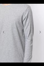 SOUTH CROSS Long Sleeve Crewneck T-shirt In Pima Cotton