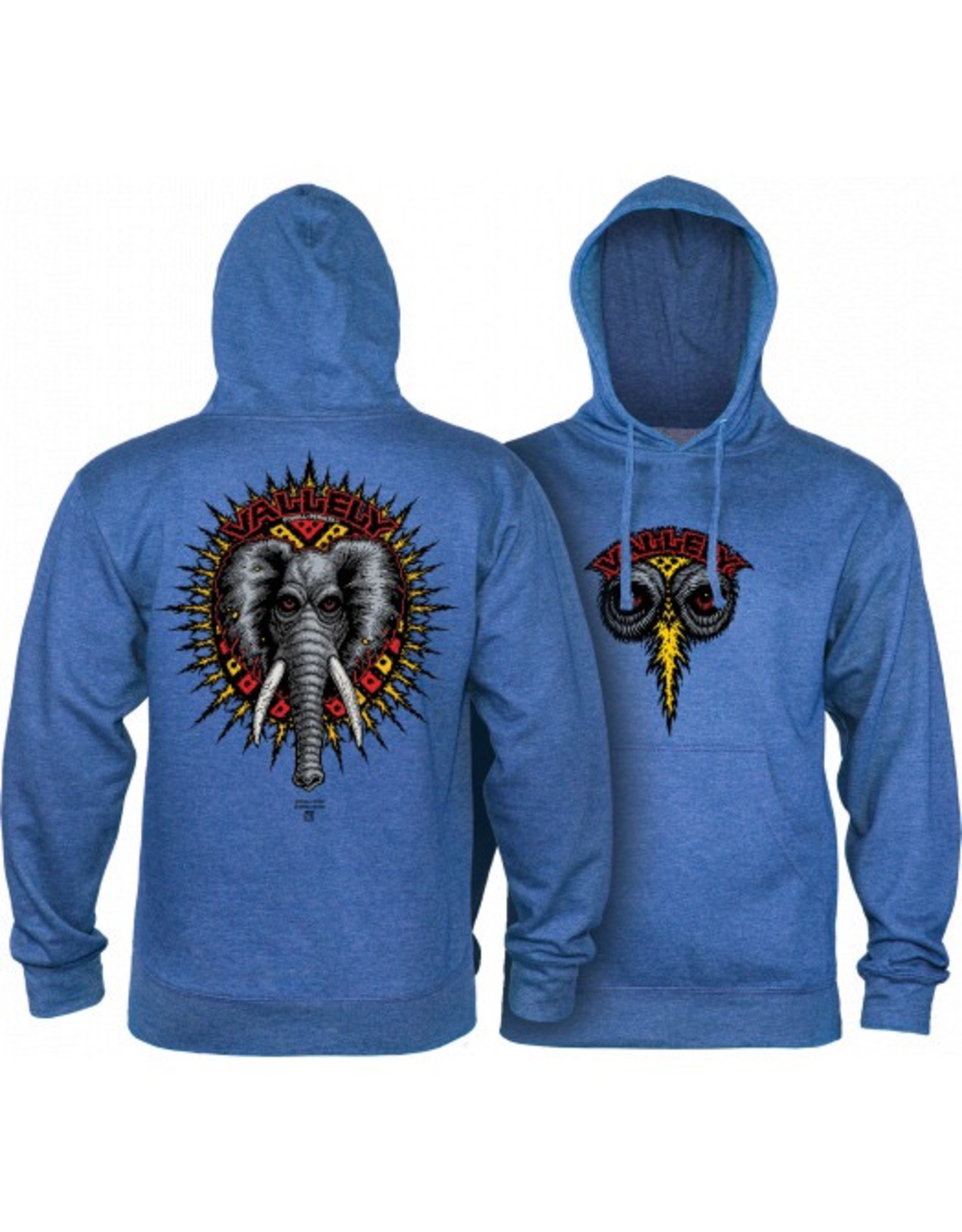 POWELL Powell Peralta Mike Vallely Elephant Hooded Sweat Shirt Mid Weight Royal Heather