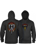 POWELL Powell Peralta Mike Vallely Elephant Hooded Sweat Shirt Mid Weight Charcoal Heather