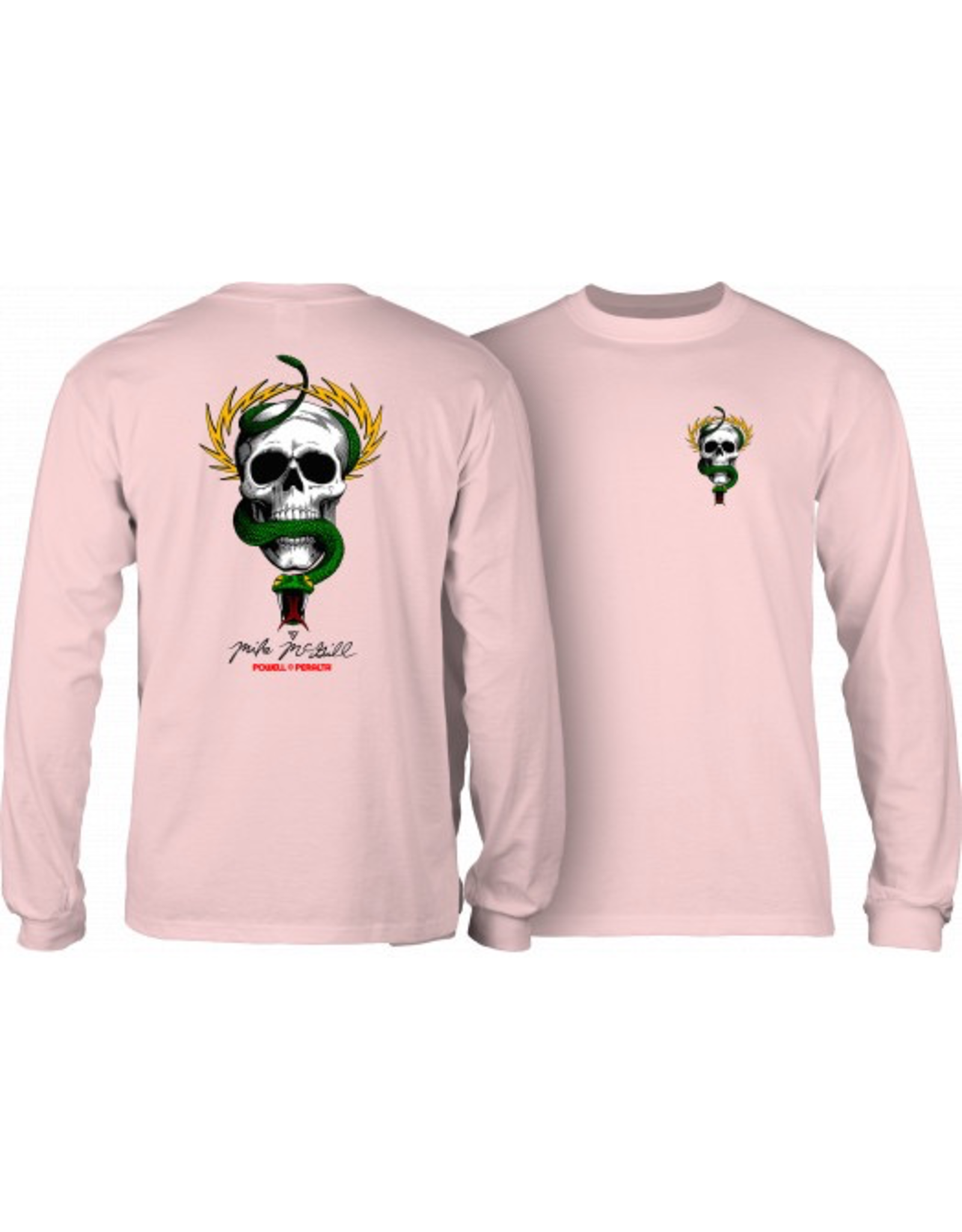 POWELL Powell Peralta Skull & Snake L/S Shirt Lt. Pink