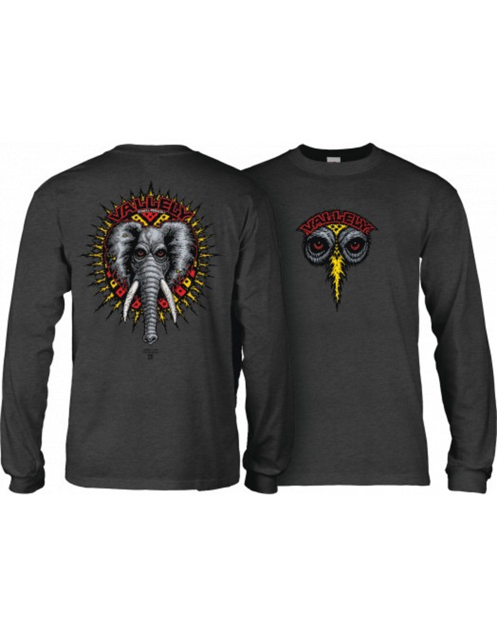 POWELL Powell Peralta Vallely Elephant L/S Shirt Charcoal
