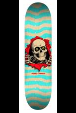POWELL Powell Peralta Ripper Skateboard Deck Nat/Turq - Shape 242 - 8 x 31.45