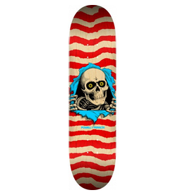 POPWAR Powell Peralta Ripper Skateboard Deck Nat/Red - Shape 244 - 8.5 x 32.08