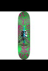 POWELL Powell Peralta Skull and Sword Skateboard Deck Pink/Green - Shape 247 - 8 x 31.45