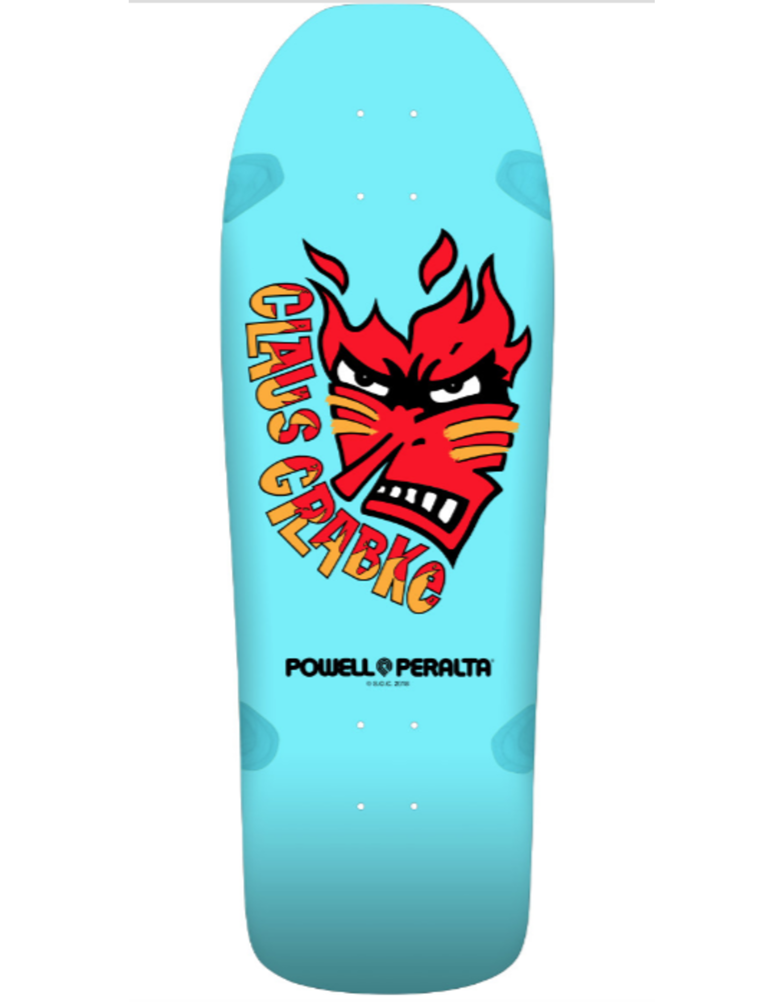 POWELL Powell Peralta Claus Grabke Skateboard Deck Aqua - Shape 287 SP0 - 10.25 x 30.5