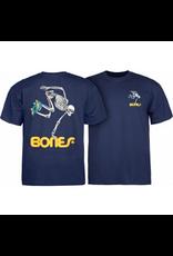 BONES Powell Peralta Skateboarding Skeleton YOUTH T-shirt - Navy