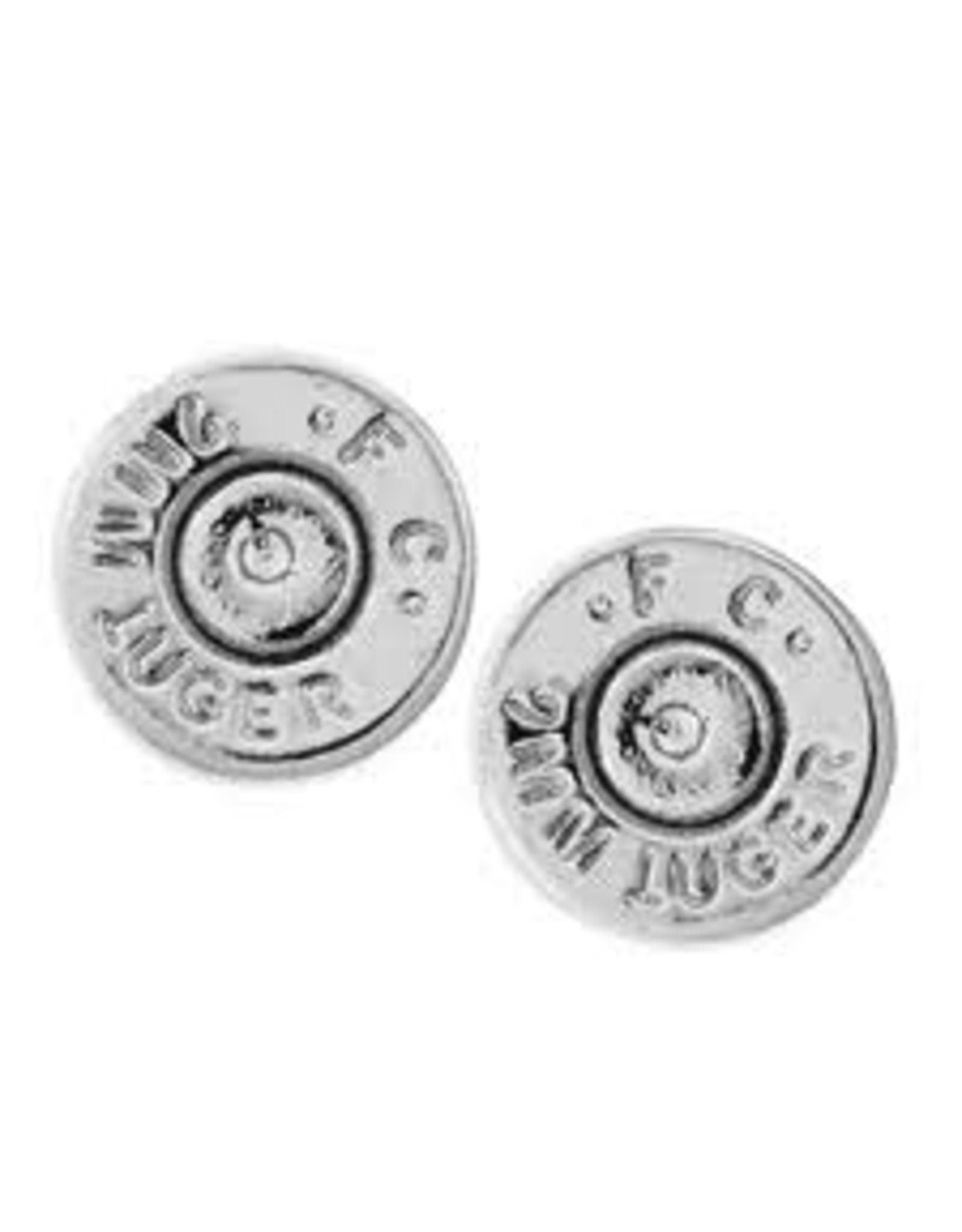 HALF UNITED Ali Bullet Top Stud Earrings - Silver