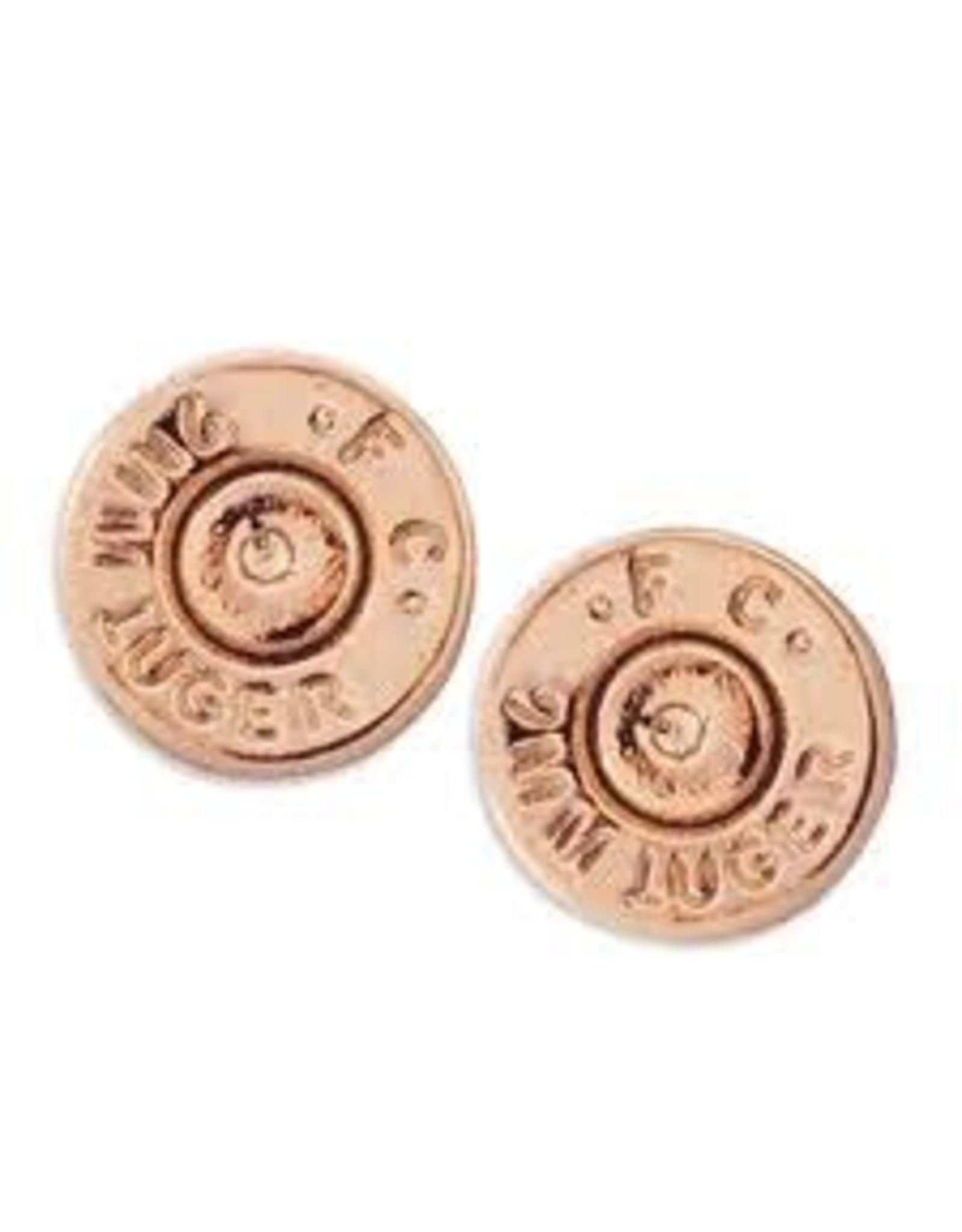 HALF UNITED Ali Bullet Top Stud Earrings-Rose Gold
