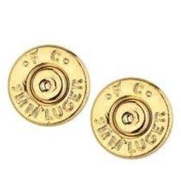 HALF UNITED Ali Bullet Top Stud Earrings-Gold